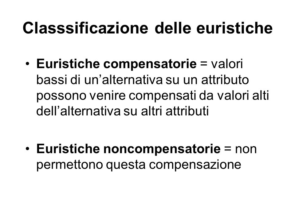 Classsificazione delle euristiche