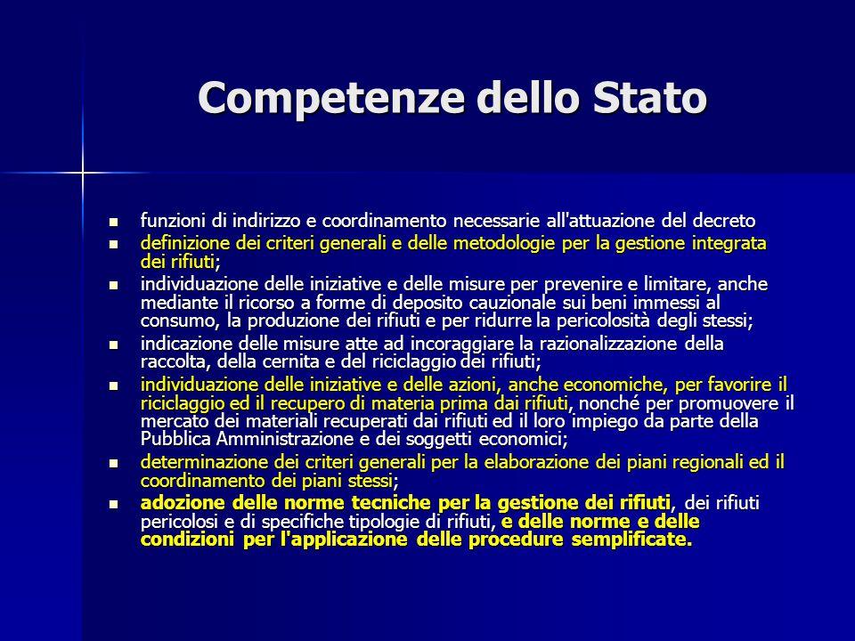 Competenze dello Stato