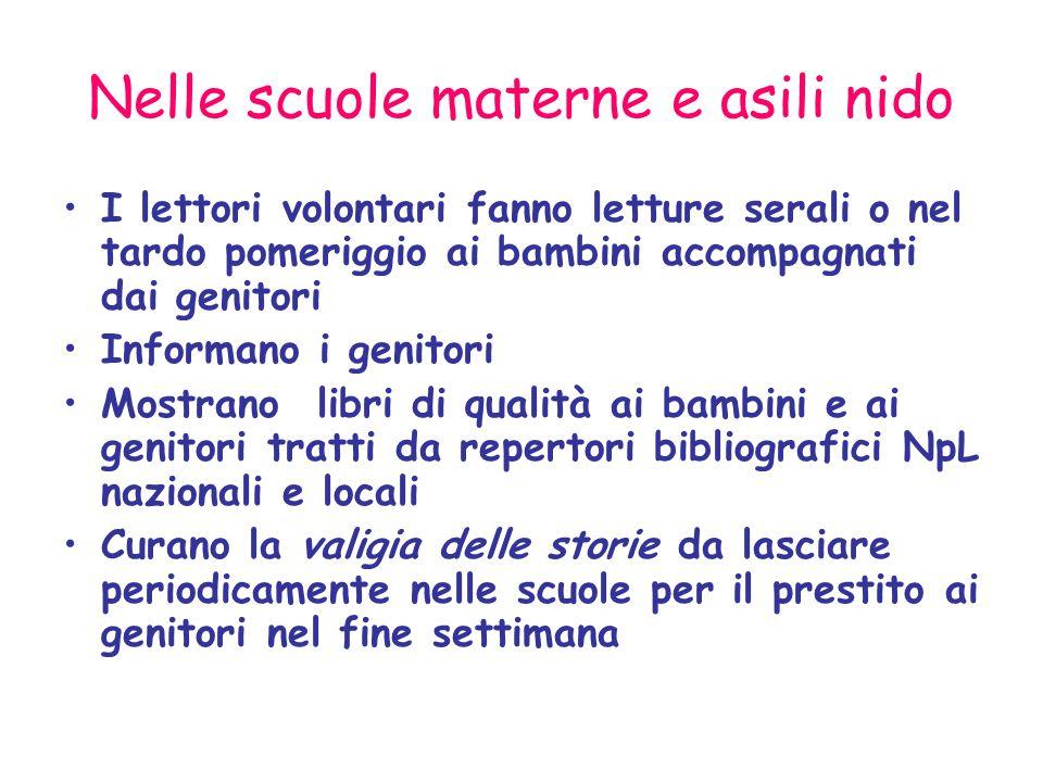 Nelle scuole materne e asili nido
