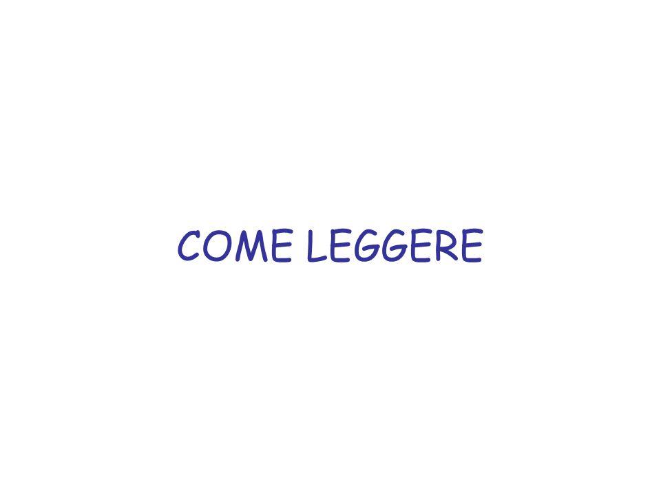 COME LEGGERE