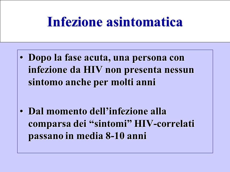 Infezione asintomatica