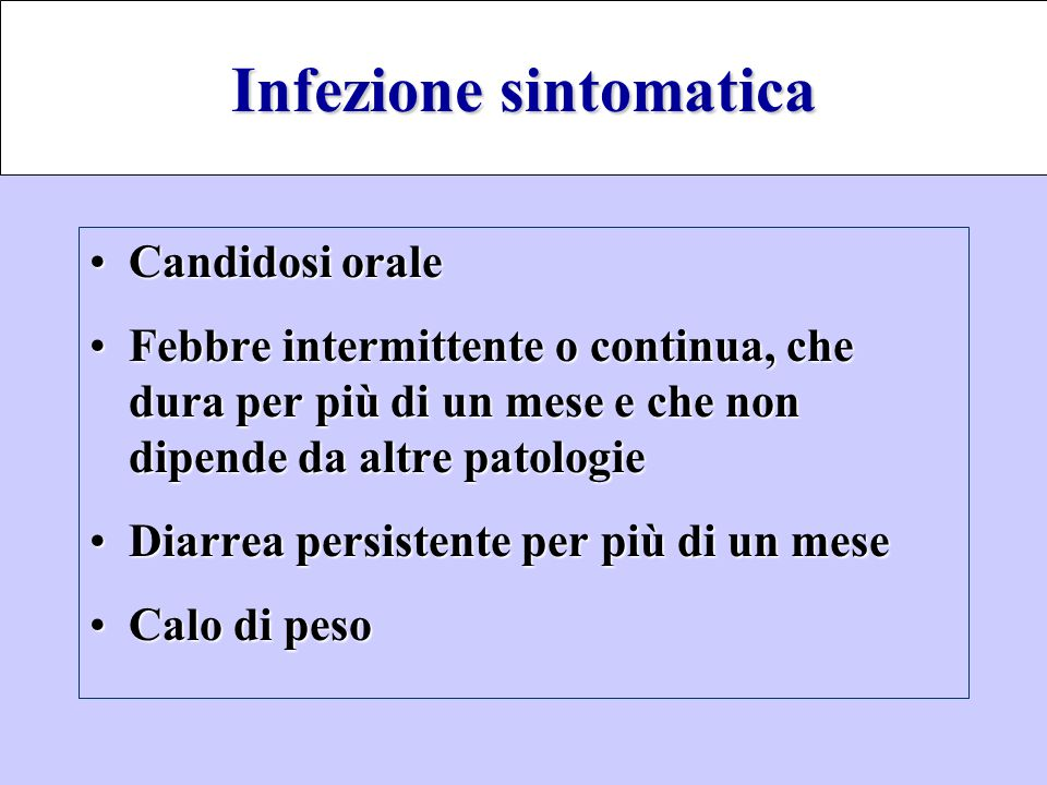 Infezione sintomatica