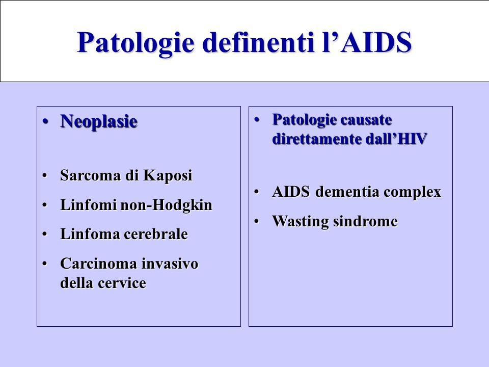 Patologie definenti l'AIDS