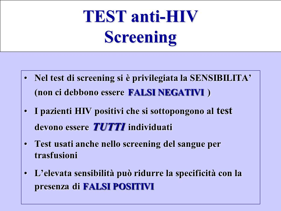 TEST anti-HIV Screening