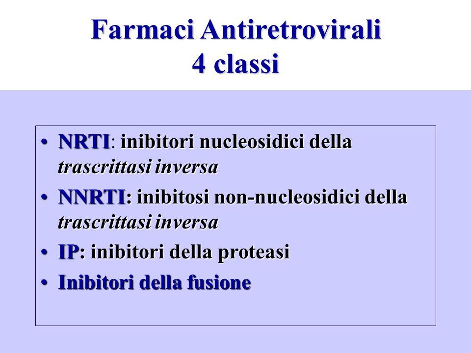 Farmaci Antiretrovirali 4 classi