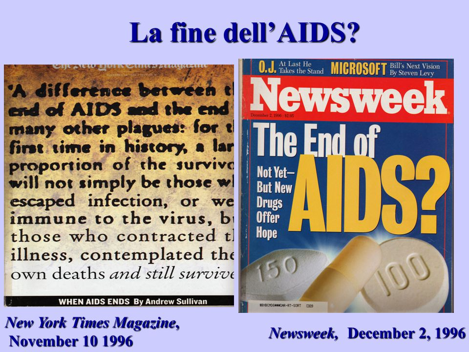 La fine dell'AIDS New York Times Magazine, November 10 1996