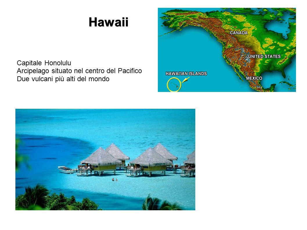 Hawaii Capitale Honolulu Arcipelago situato nel centro del Pacifico