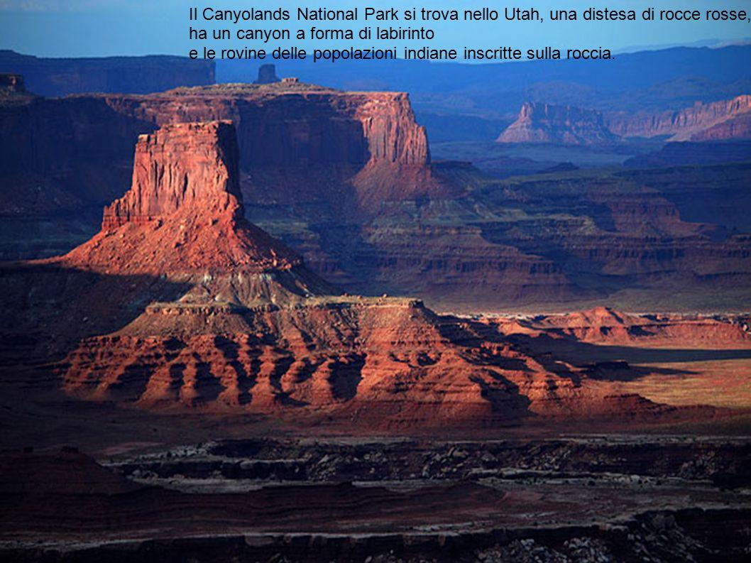 Il Canyolands National Park si trova nello Utah, una distesa di rocce rosse,