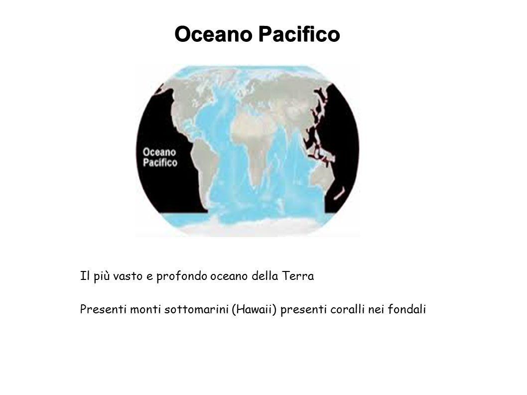 Oceano Pacifico Il più vasto e profondo oceano della Terra