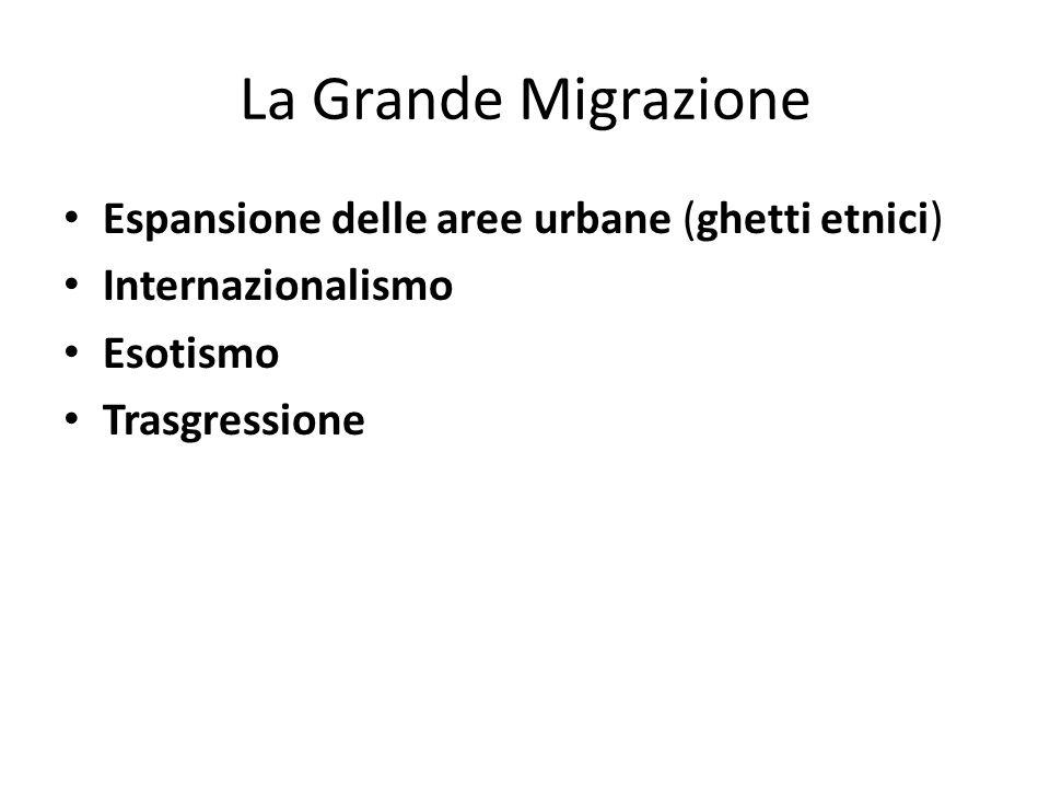 La Grande Migrazione Espansione delle aree urbane (ghetti etnici)