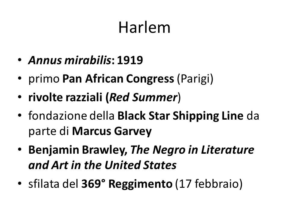 Harlem Annus mirabilis: 1919 primo Pan African Congress (Parigi)