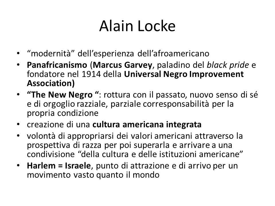 Alain Locke modernità dell'esperienza dell'afroamericano
