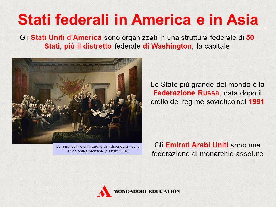 Stati federali in America e in Asia