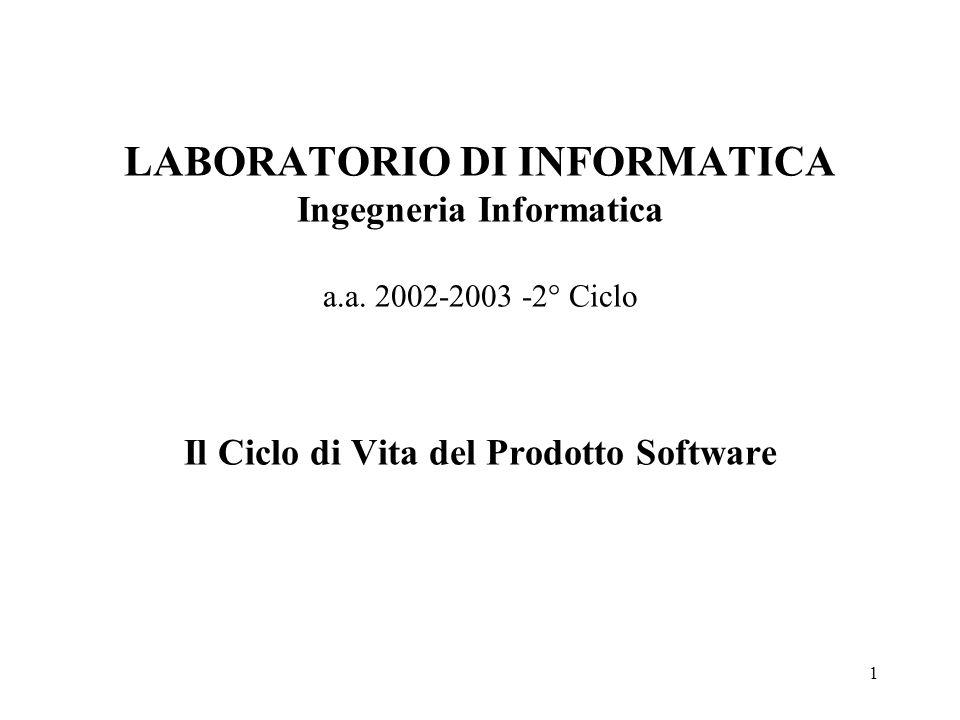LABORATORIO DI INFORMATICA Ingegneria Informatica a. a