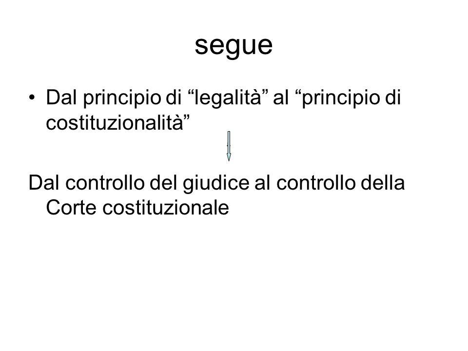 segue Dal principio di legalità al principio di costituzionalità