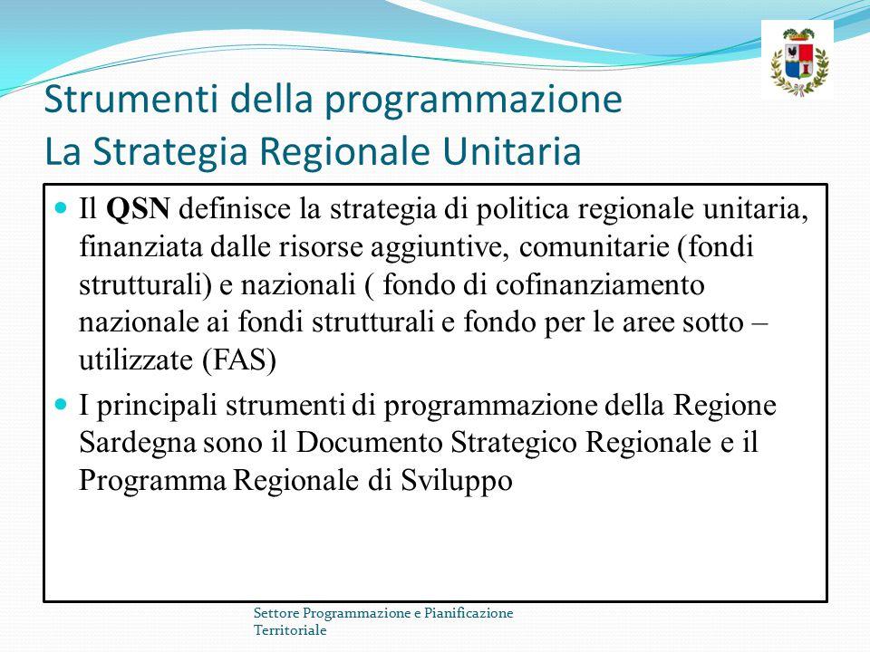 Strumenti della programmazione La Strategia Regionale Unitaria