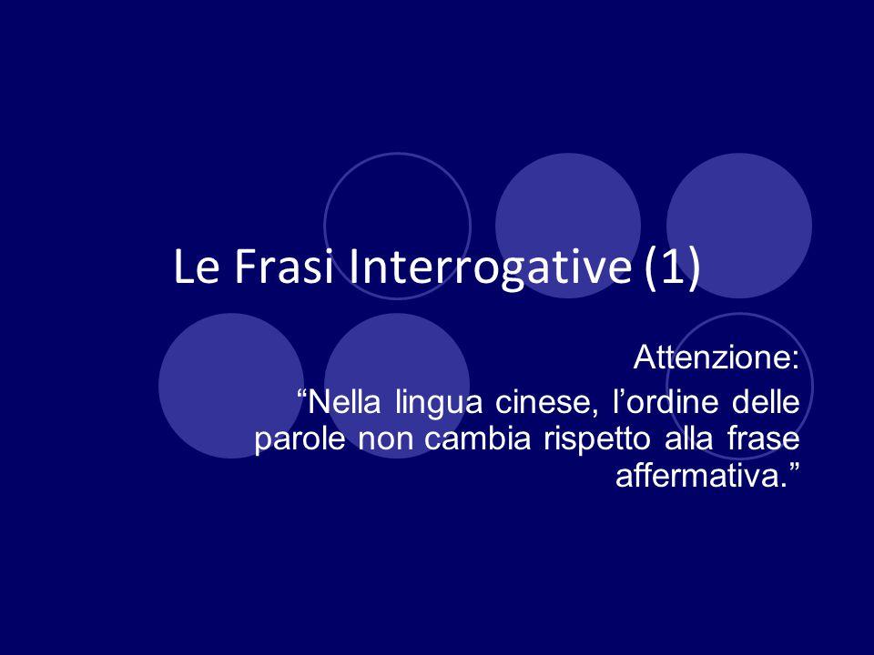 Le Frasi Interrogative (1)