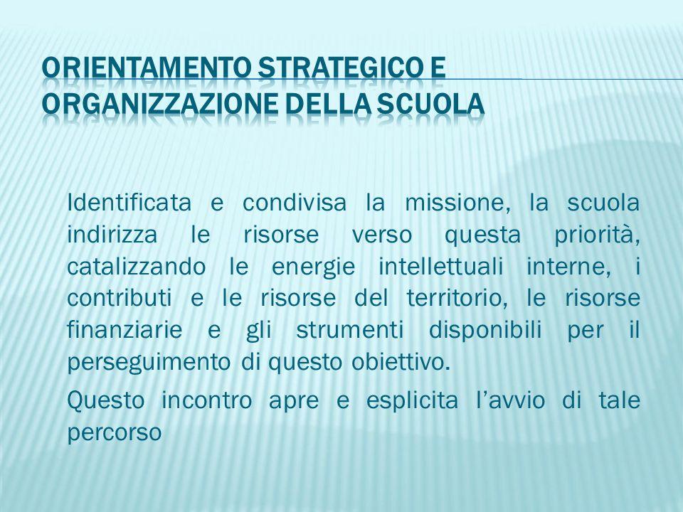 Orientamento strategico e organizzazione della scuola