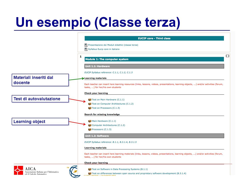Un esempio (Classe terza)