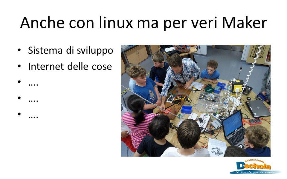Anche con linux ma per veri Maker