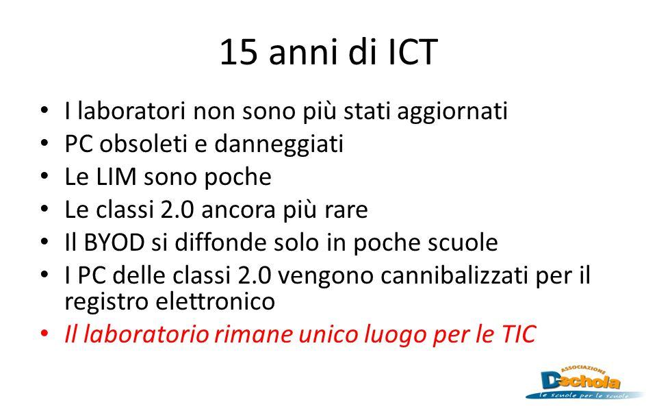 15 anni di ICT I laboratori non sono più stati aggiornati