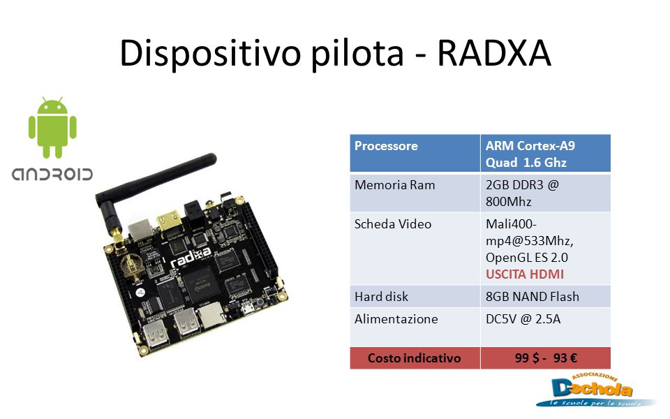 Dispositivo pilota - RADXA