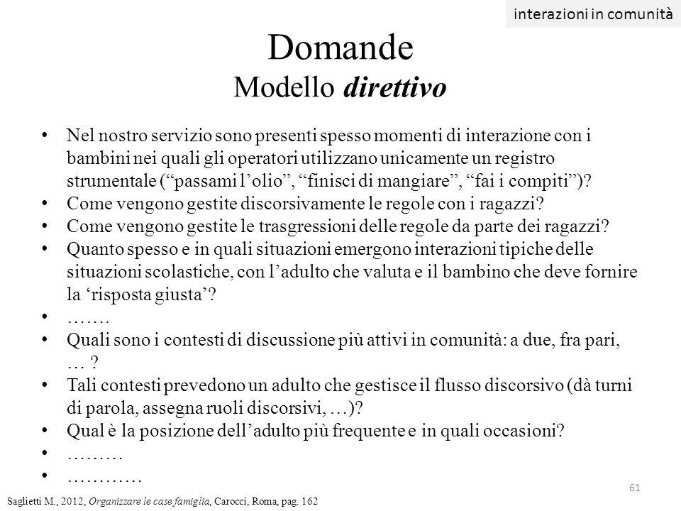 Domande Modello direttivo