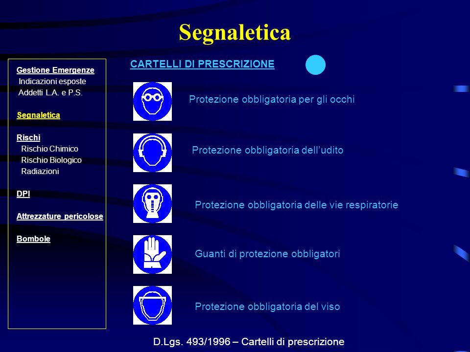 D.Lgs. 493/1996 – Cartelli di prescrizione