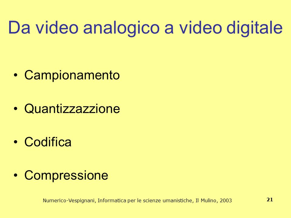 Da video analogico a video digitale