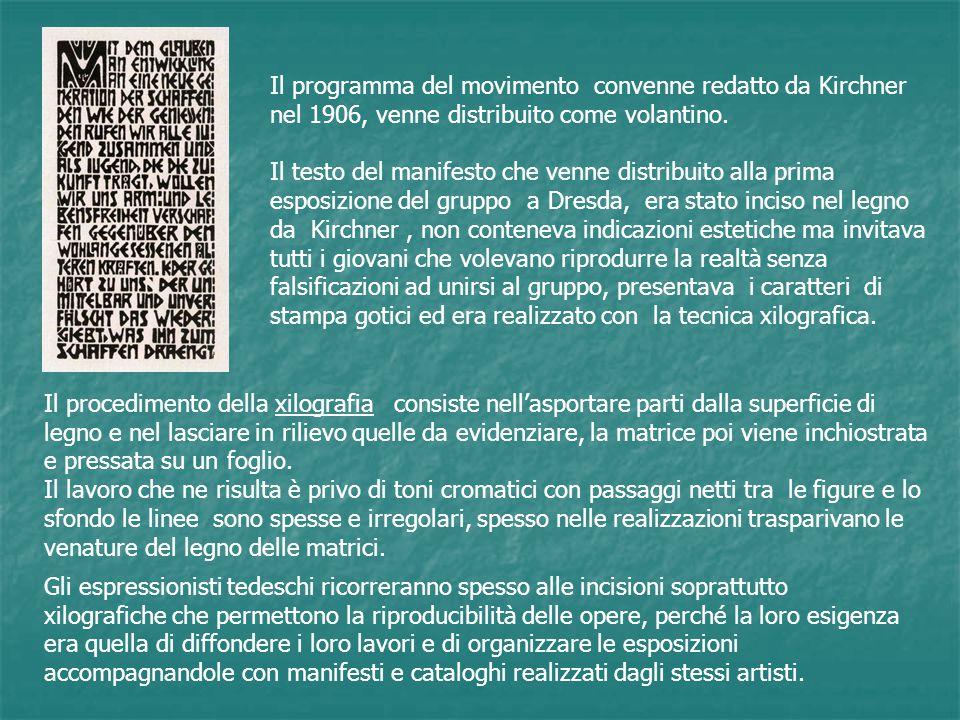 Il programma del movimento convenne redatto da Kirchner nel 1906, venne distribuito come volantino.