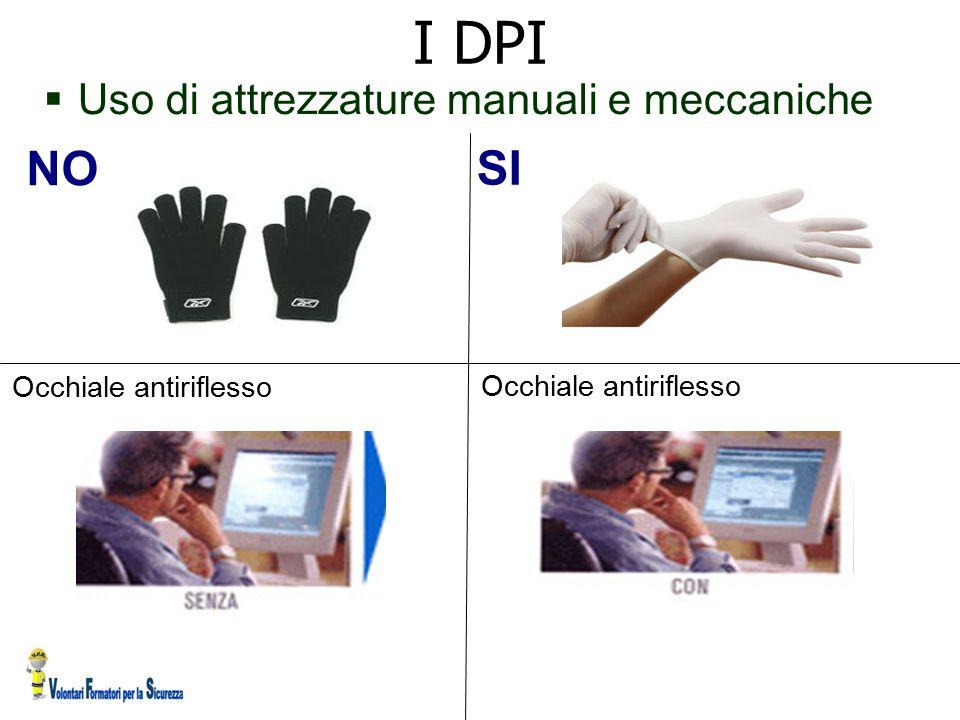 I DPI NO SI Uso di attrezzature manuali e meccaniche