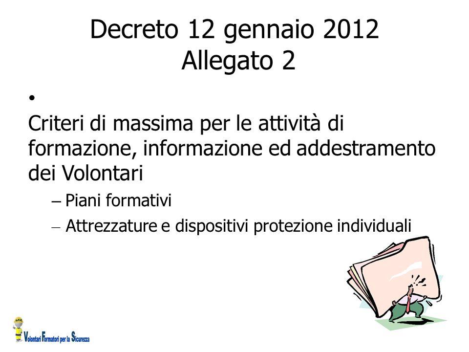Decreto 12 gennaio 2012 Allegato 2