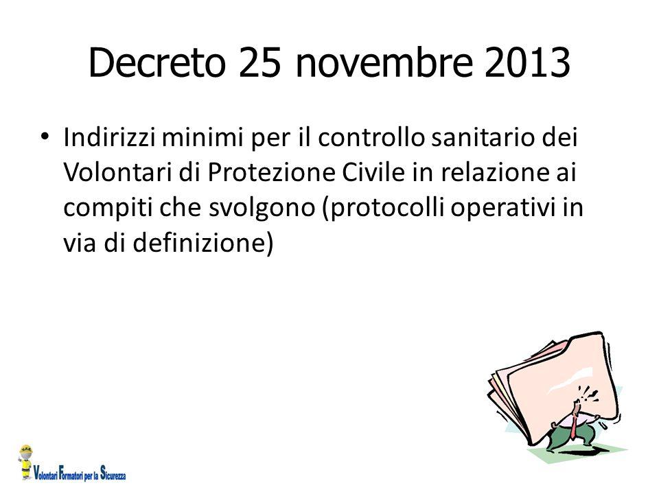 Decreto 25 novembre 2013