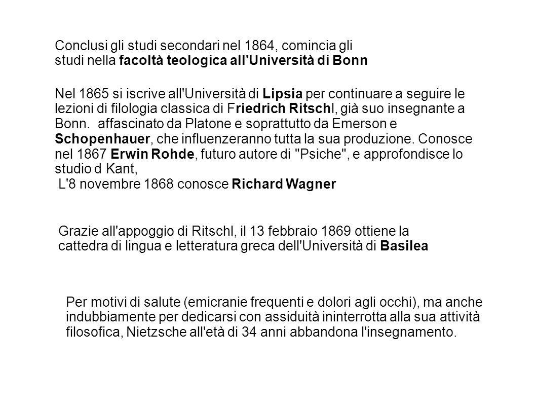 Conclusi gli studi secondari nel 1864, comincia gli studi nella facoltà teologica all Università di Bonn