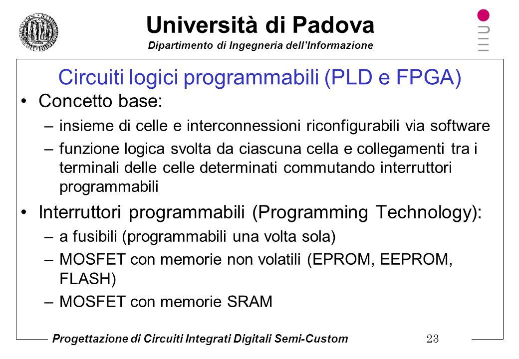 Circuiti logici programmabili (PLD e FPGA)