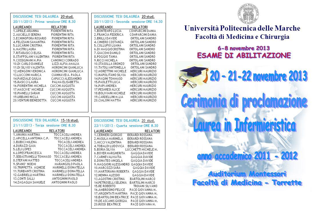 Università Politecnica delle Marche Facoltà di Medicina e Chirurgia