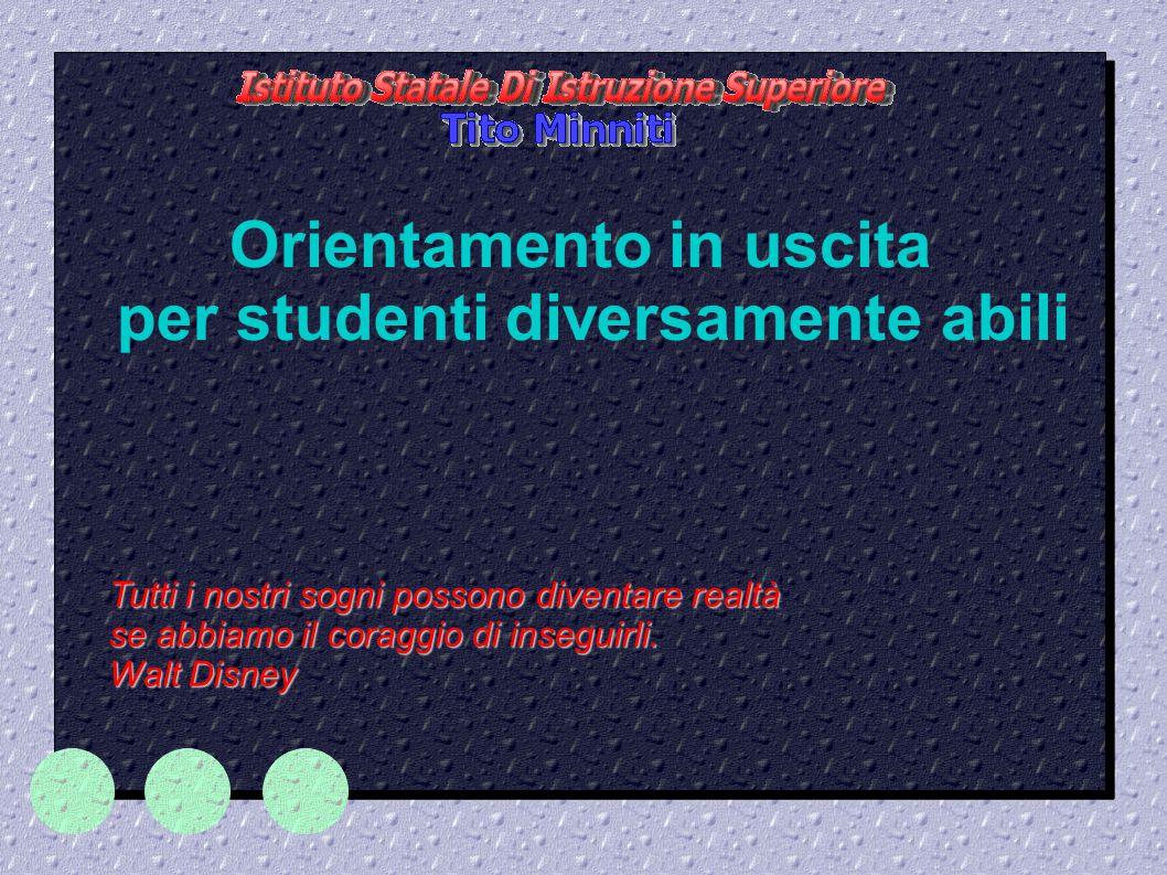 Orientamento in uscita per studenti diversamente abili