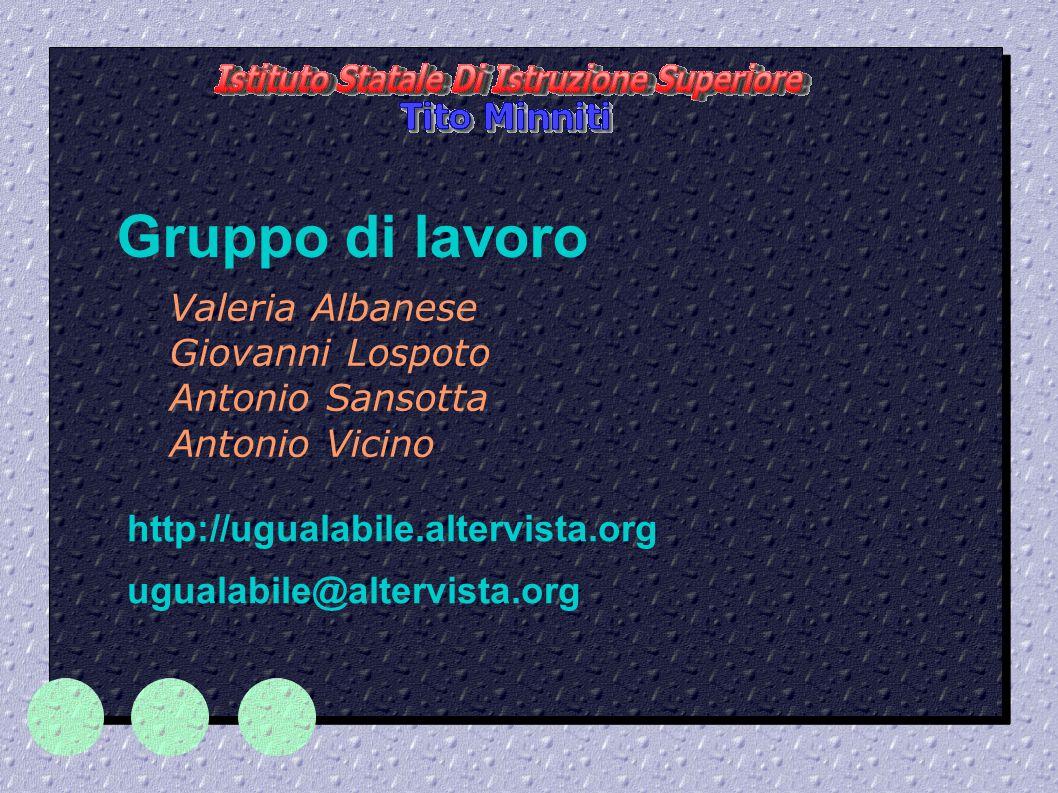 Valeria Albanese Giovanni Lospoto Antonio Sansotta Antonio Vicino
