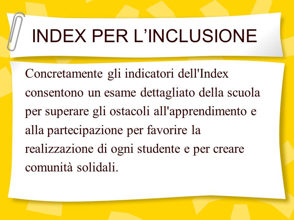 INDEX PER L'INCLUSIONE