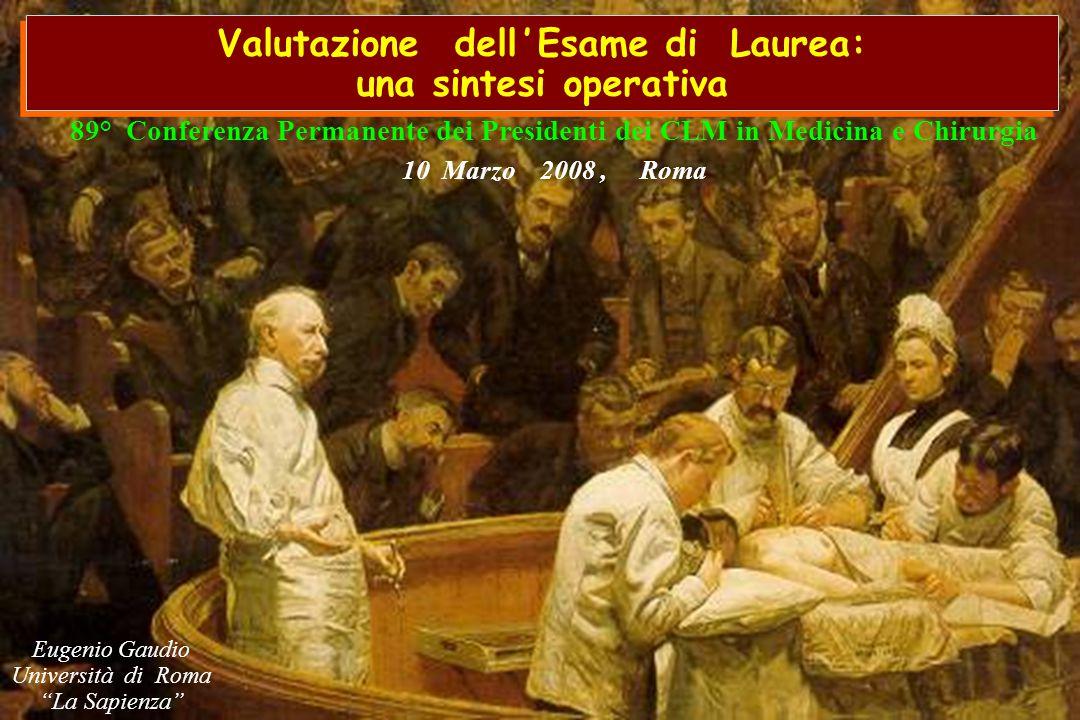 Valutazione dell ' Esame di Laurea: