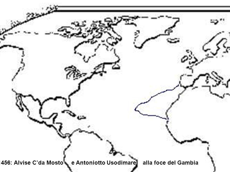 1456: Alvise C'da Mosto e Antoniotto Usodimare alla foce del Gambia