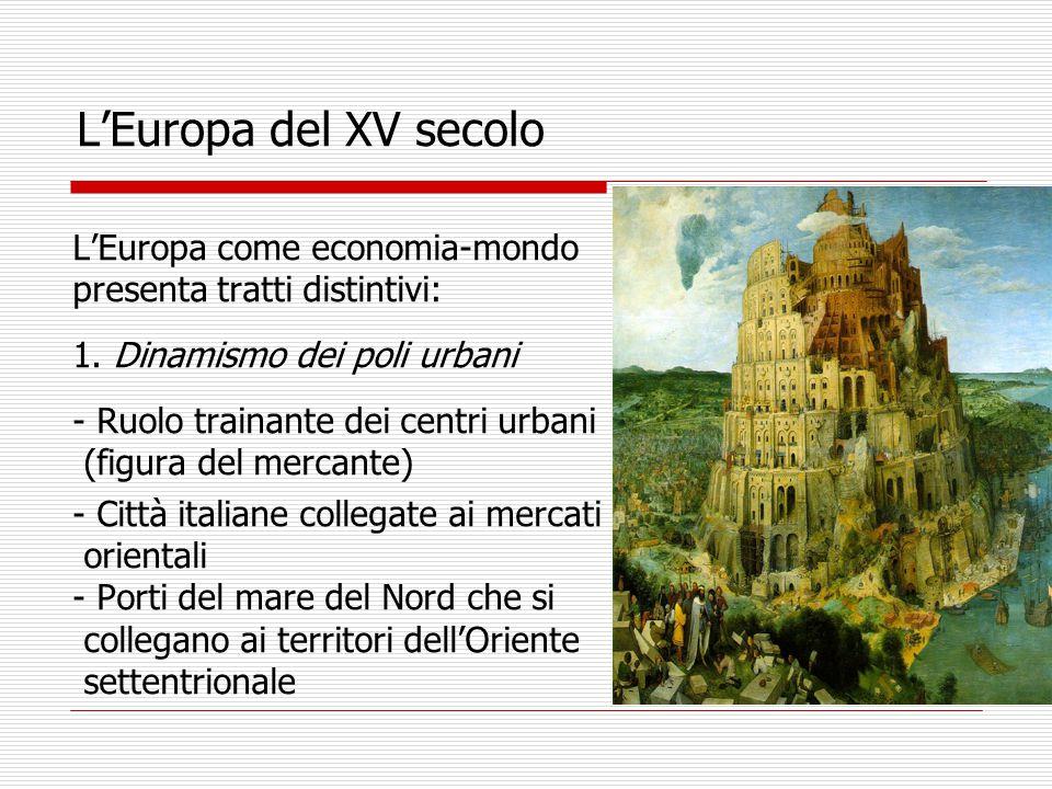 L'Europa del XV secolo L'Europa come economia-mondo