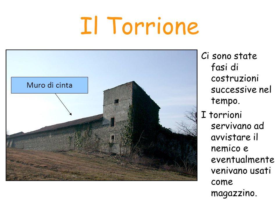 Il Torrione Ci sono state fasi di costruzioni successive nel tempo.