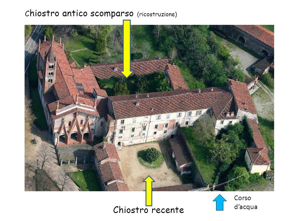 Chiostro recente Chiostro antico scomparso (ricostruzione)