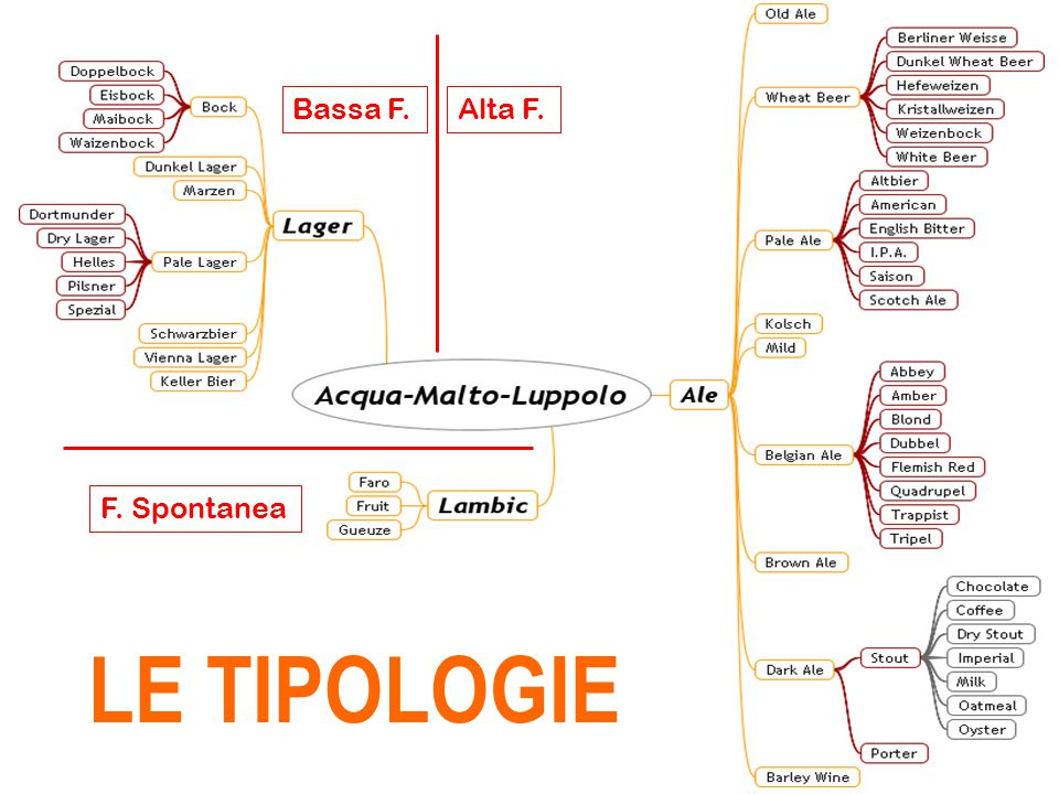 Bassa F. Alta F. F. Spontanea LE TIPOLOGIE