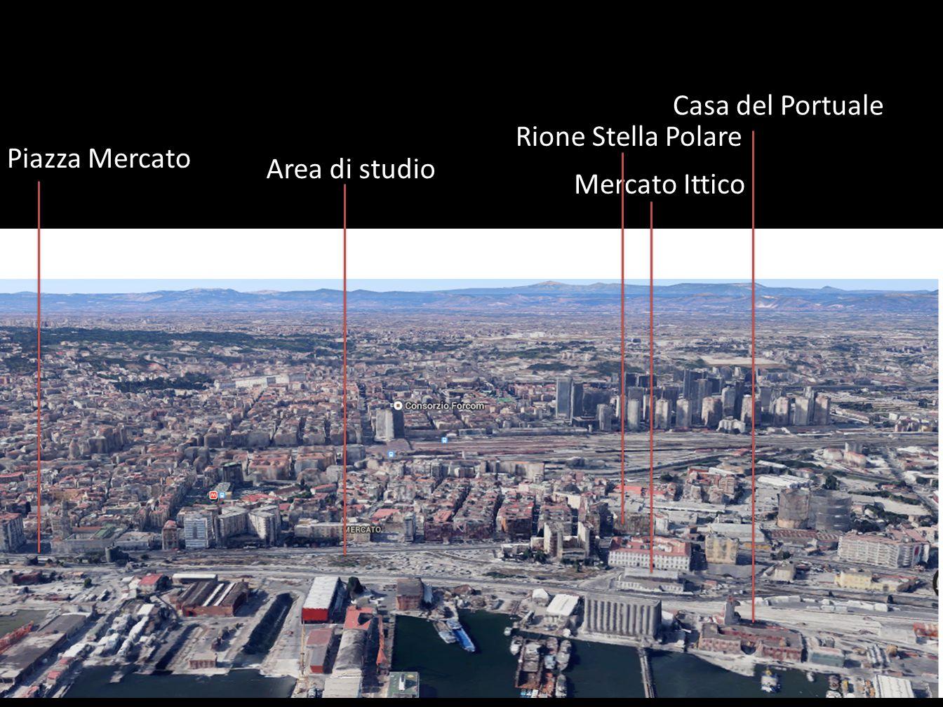 Casa del Portuale Rione Stella Polare Piazza Mercato Area di studio Mercato Ittico