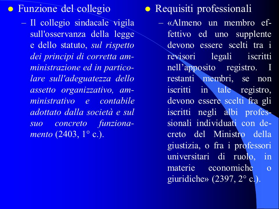 Requisiti professionali