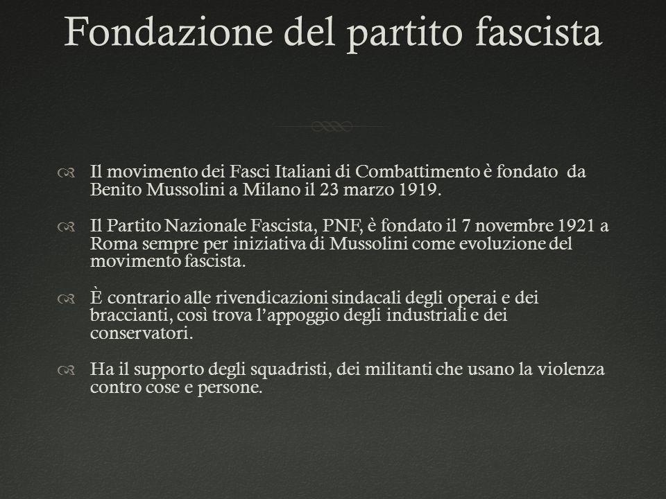 Fondazione del partito fascista