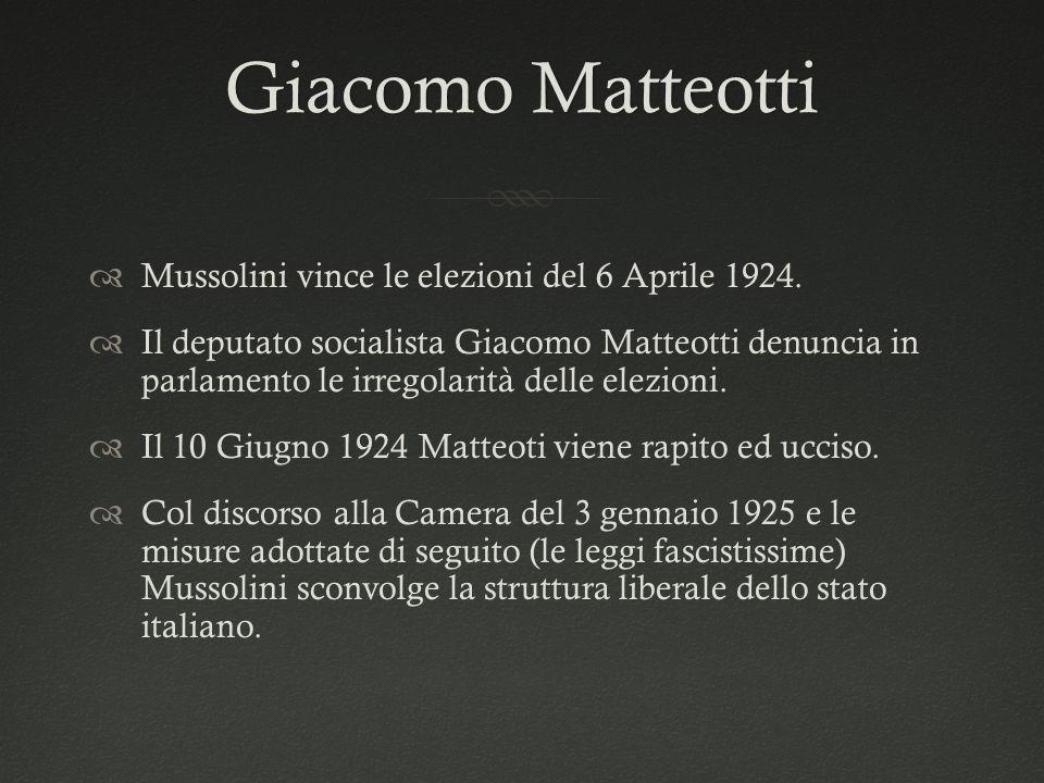 Giacomo Matteotti Mussolini vince le elezioni del 6 Aprile 1924.
