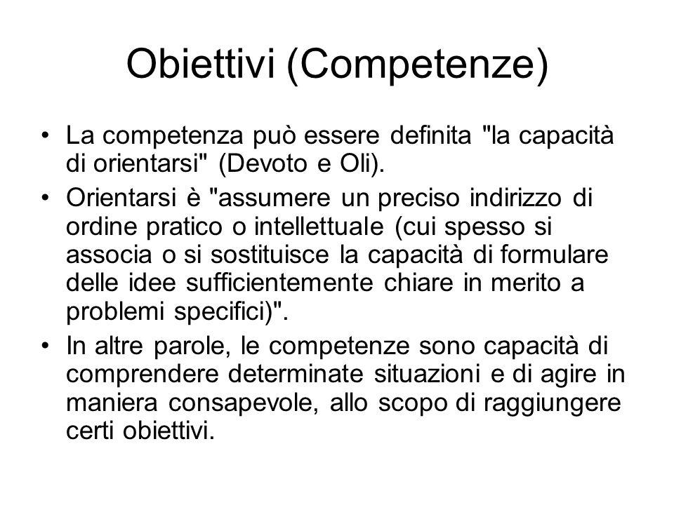 Obiettivi (Competenze)